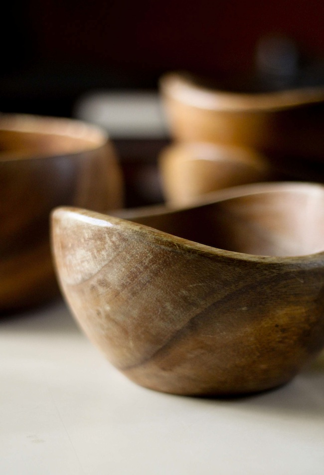 To clean and preserve the beauty of your wooden bowls and to prevent them from warping or cracking coat them with ODORLESS cooking oil regularly. & How to Care for Wooden Bowls and Plates | A Dose of Simple