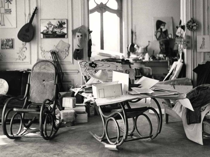 Pablo Picasso's studio, 1965.