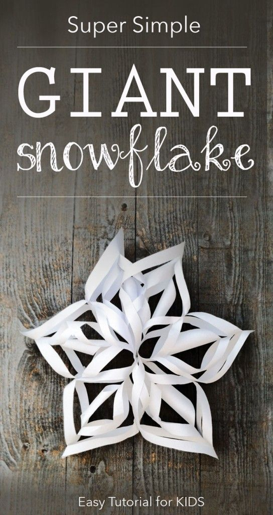 giant snowflake tutorial