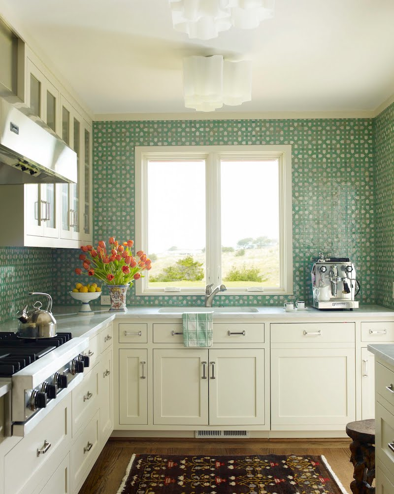 katie ridder rooms book kitchen green moroccan mosaic tile counter to ceiling backsplash cococozy
