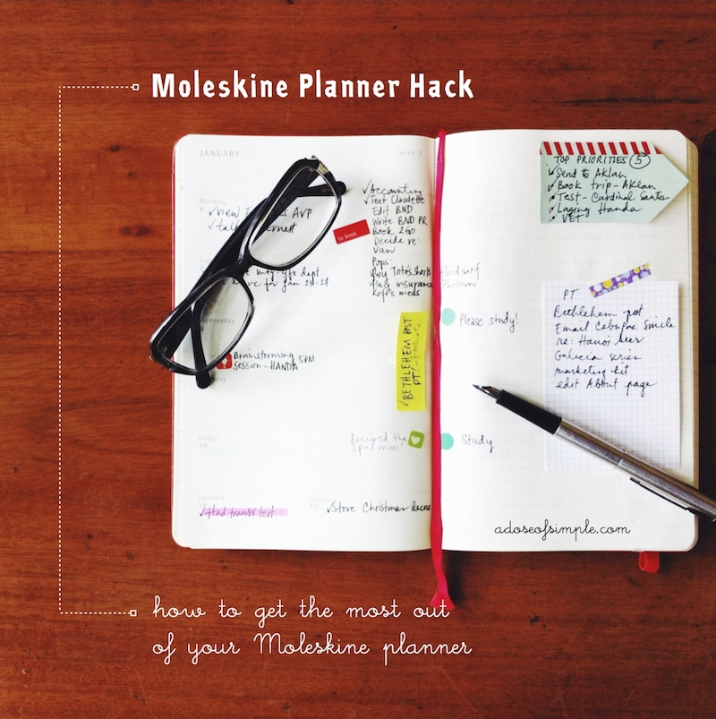 My Moleskine Planner Hack | A Dose of Simple