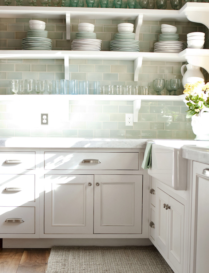 pastelgreen backsplash