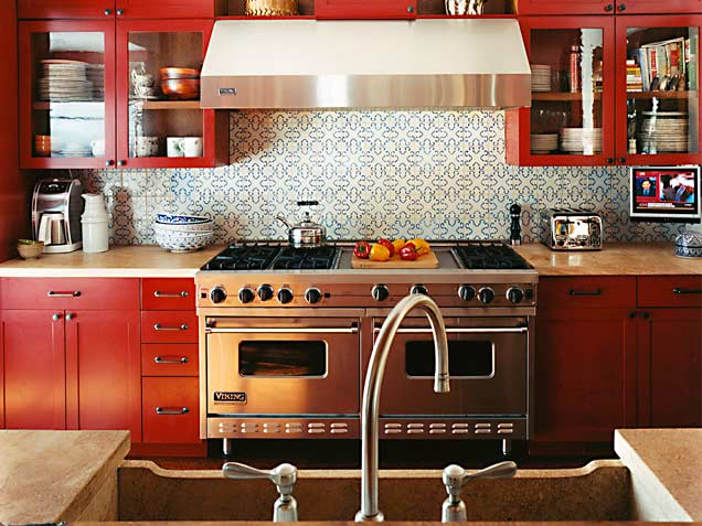 Red-rival-Colorful-kitchen-backsplash-tiles