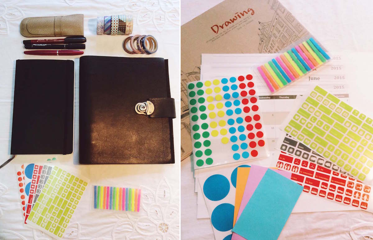 Moleskine Hack and Free Printables for an Organized 2015